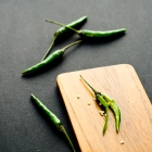 Green bird's eye chilies