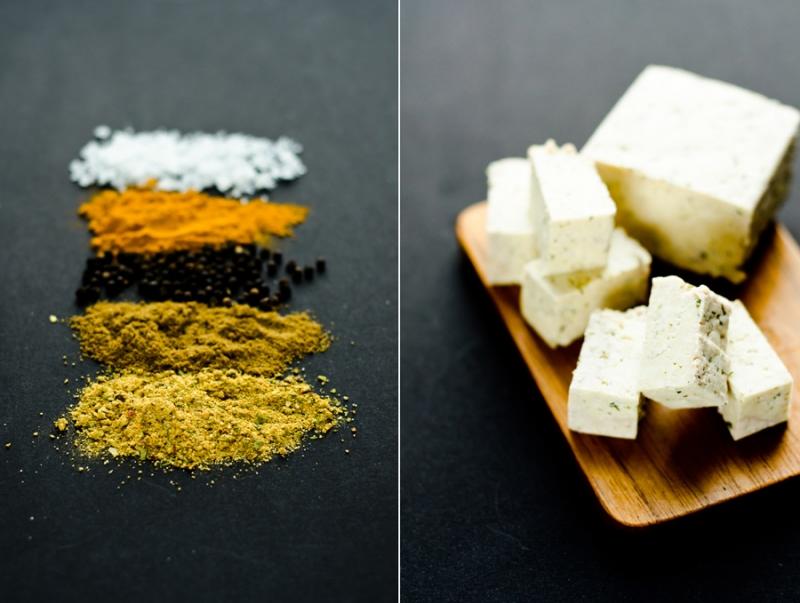 Kõva tofu ja vürtsid